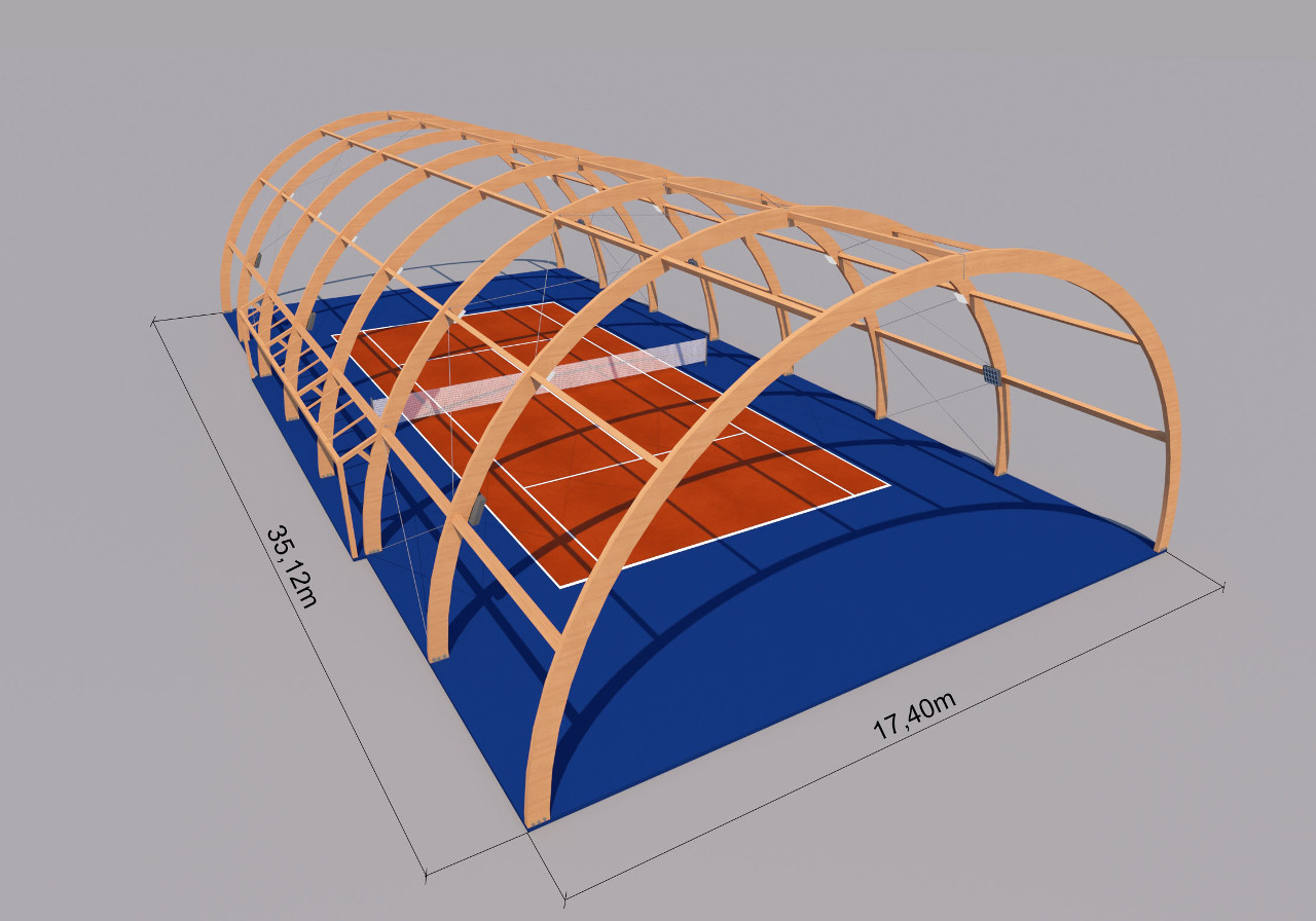 Zaawansowane Hala standardowa z drewna klejonego RG37